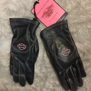 NWT Pink Label Harley Riding Gloves